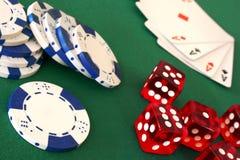 Juegos del casino Fotos de archivo libres de regalías