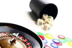 Juegos del casino imagen de archivo libre de regalías