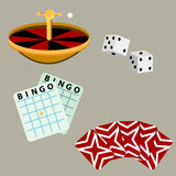 Juegos del casino de juego Foto de archivo