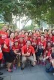 Juegos 2015 del mar de DPM Teo Chee Hean Group Photo Crowds Para Imágenes de archivo libres de regalías