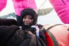 Juegos divertidos del invierno Imagen de archivo libre de regalías