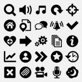 Juegos e iconos del Web fijados Imágenes de archivo libres de regalías