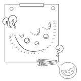 Juegos educativos para los niños: Juego de números Queso Libro de colorear para los niños Fotografía de archivo