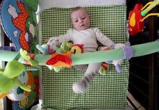 Juegos lindos del bebé Imagen de archivo libre de regalías