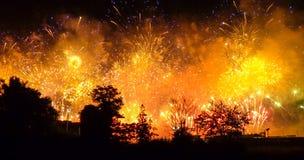 Juegos Olímpicos de Londres 2012 fuegos artificiales Imágenes de archivo libres de regalías