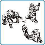 Juegos Olímpicos del invierno - hockey. Imagen de archivo libre de regalías