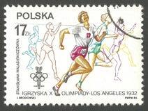 Juegos Olímpicos en Los Ángeles Foto de archivo