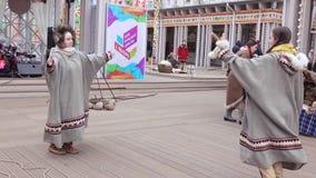 Juegos populares de Chukchee almacen de video
