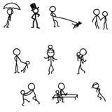 Juegos que caminan de los palillos con vector del bebé Fotografía de archivo
