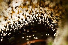 Juegos subacuáticos abstractos con las burbujas y la luz Foto de archivo libre de regalías