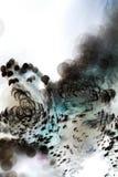 Juegos subacuáticos abstractos con las burbujas y la luz Fotografía de archivo libre de regalías