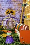 Juegos verticales de Autumn Croquet y del bádminton Foto de archivo
