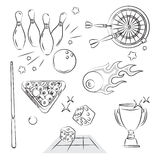 Juegos y deporte Entertiment Imagen de archivo libre de regalías