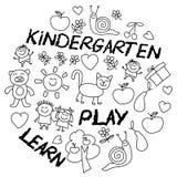 Juegue aprenden y crecen junto imagen del vector Fotos de archivo
