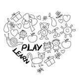Juegue aprenden y crecen junto imagen del vector Fotografía de archivo