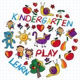 Juegue aprenden y crecen junto imagen del vector Fotos de archivo libres de regalías