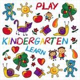 Juegue aprenden y crecen junto imagen del vector Imágenes de archivo libres de regalías