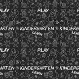 Juegue aprenden y crecen junto imagen en la pizarra Imagen de archivo libre de regalías