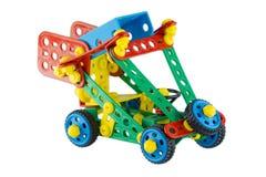 Juegue el coche del concepto de la construcción con una rueda de repuesto Fotos de archivo