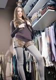 Juerga de compras. Imagen de archivo libre de regalías