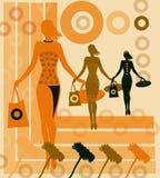 Juerga de compras Imagen de archivo libre de regalías
