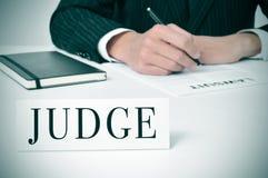 juez imagen de archivo