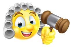 Juez Character de Emoji del Emoticon Imagen de archivo libre de regalías