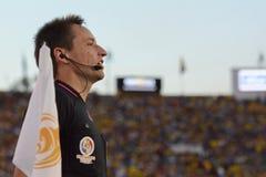 Juez de línea del fútbol durante Copa América Centenario Imagen de archivo