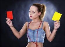 Juez de la mujer aislado Imagen de archivo