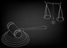 Juez del martillo, escalas de la justicia Imagen de archivo libre de regalías