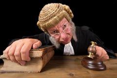 Juez enojado Imagen de archivo libre de regalías