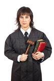 Juez femenino Fotos de archivo