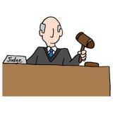 Juez Holding Gavel ilustración del vector