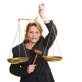 Juez justo Foto de archivo libre de regalías