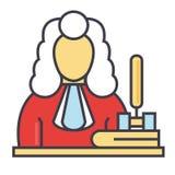 Juez, mazo, justicia, concepto de la ley Libre Illustration