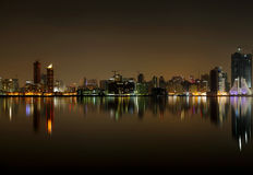 Juffair skyline and reflection, Bahrain Royalty Free Stock Photo