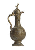Jug. Antiques bronze jug with ornament royalty free stock image