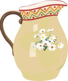 Jug. Illustration ofJug with floral decorations Royalty Free Stock Photography