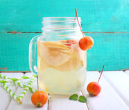 Jug of apple compote Stock Images