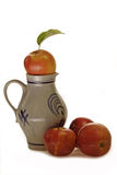 Jug with Apples Royalty Free Stock Images