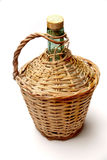 Jug with bamboo weaving Stock Images