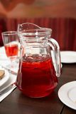 Jug a berry juice. Red, drink, jug, juice, fruit Royalty Free Stock Image