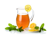 Jug with cold tea Stock Images