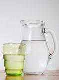 Jug  of cold water Royalty Free Stock Photo
