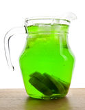 Jug with a drink Stock Image