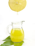 Jug of a fresh lemon juice Stock Photo