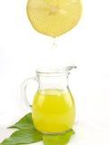 Jug of a fresh lemon juice Stock Photo
