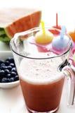 Jug with fruit juice Royalty Free Stock Image