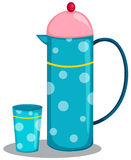 Jug and glass royalty free illustration