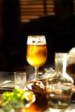 Jug and glass with beer Royalty Free Stock Photo